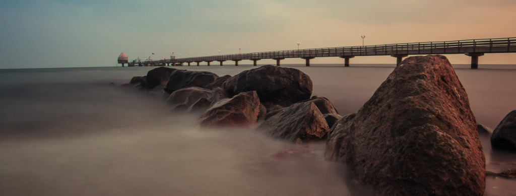 Ostesee Felsen gefiltert Seebrücke