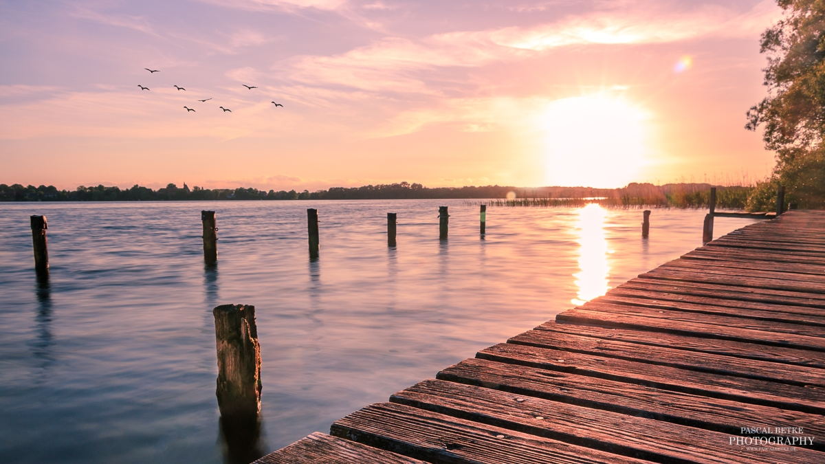 Sonnenuntergang in Zarrentin am Schaalsee Making Off