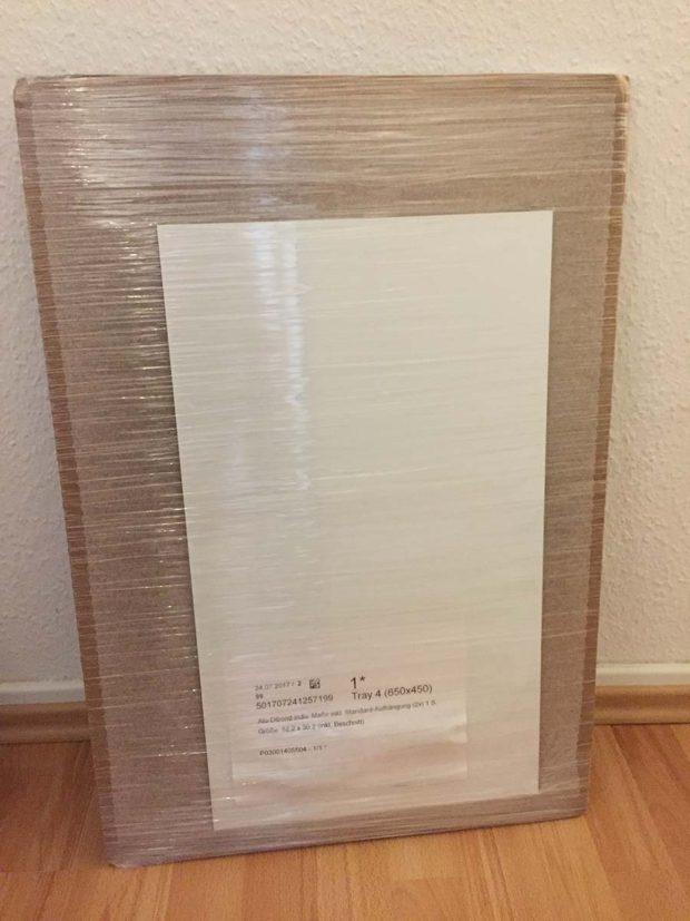 saal-digital alu-dibond wandbild verpackung